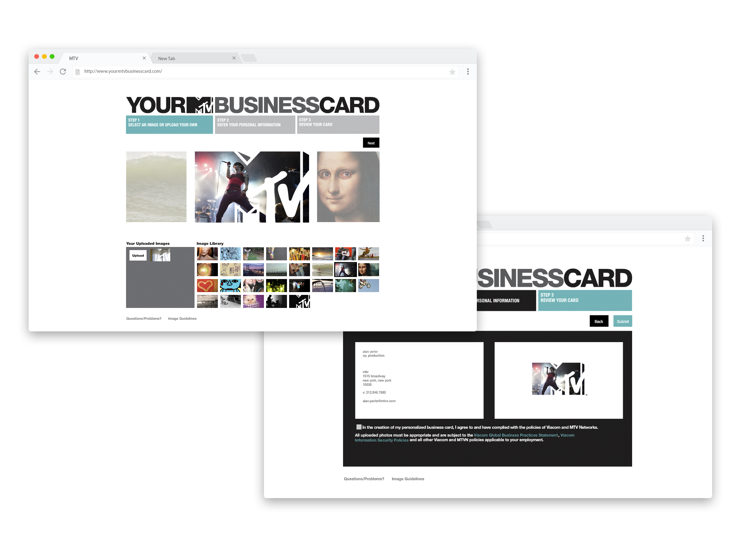 MTV Personalized Business Card